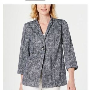 JM Collection Textured One-Button Jacket
